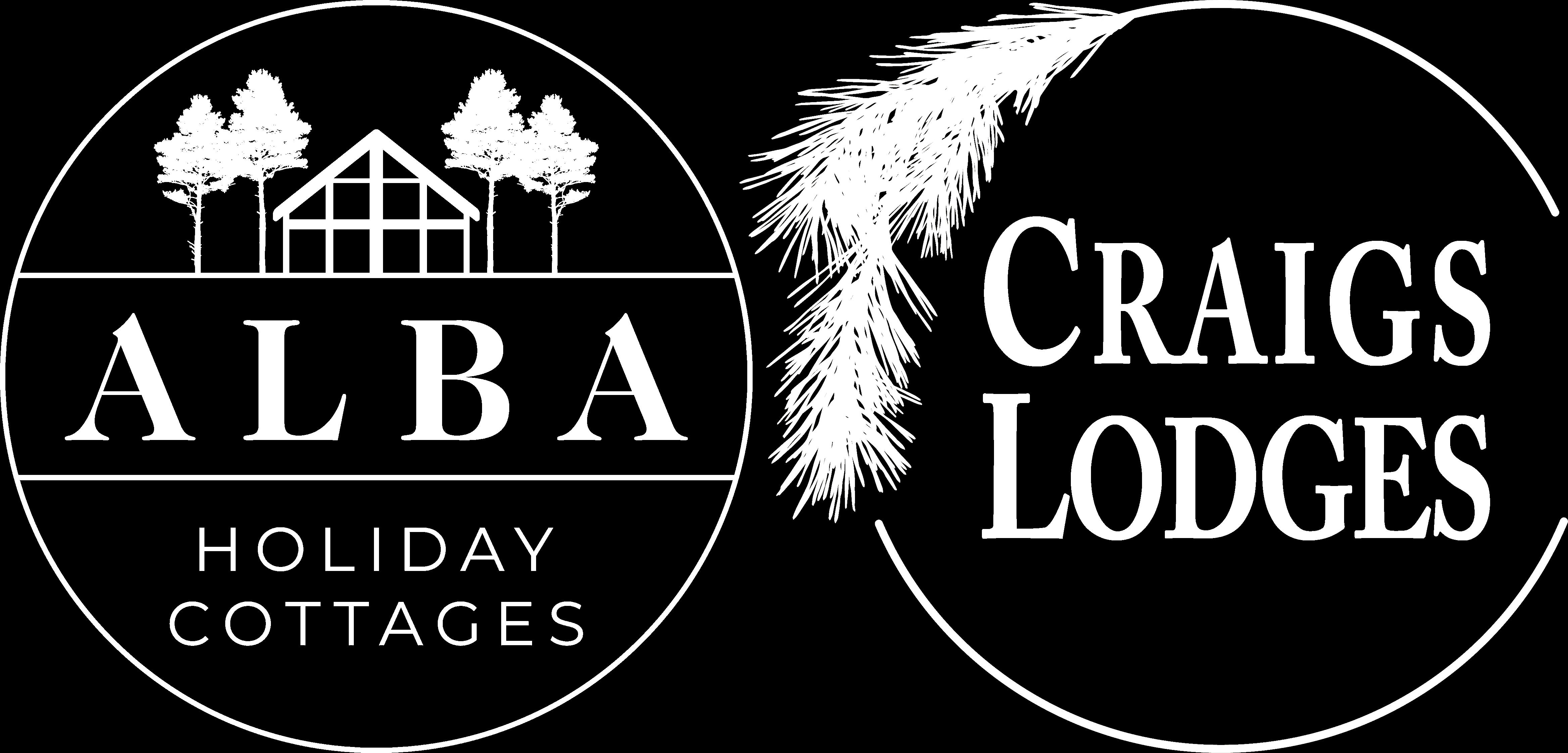 Alba Holiday Cottages & Craigs Lodges - white logo